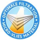 Optimale Filtration Micro Vlies Badge