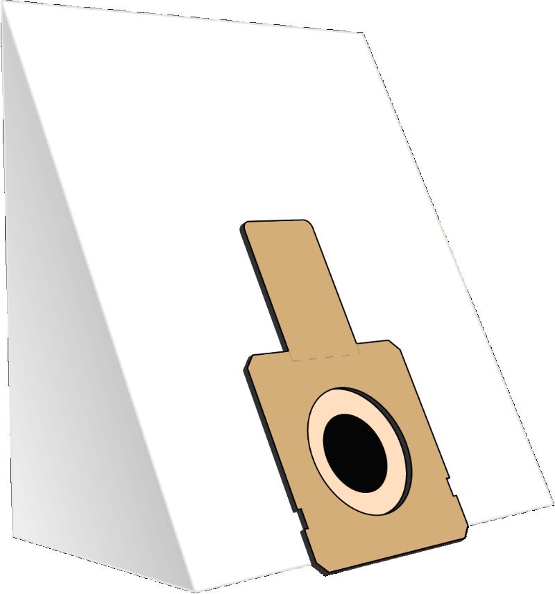 10 Staubsaugerbeutel Papier geeignet für Fakir E-Klasse, Hoover uva - ersetzt Swirl X350, X351