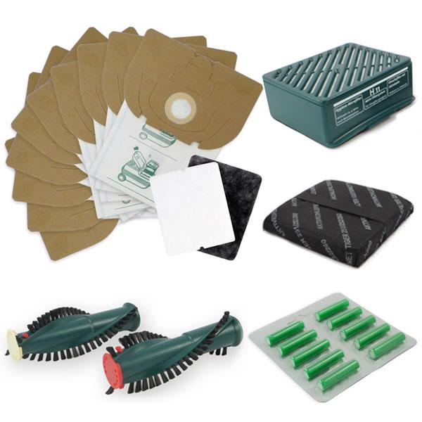 Sparset geeignet für Vorwerk Tiger VT 251, 252 - Staubsaugerbeutel, HEPA-Filter, Bürsten, Duftsticks