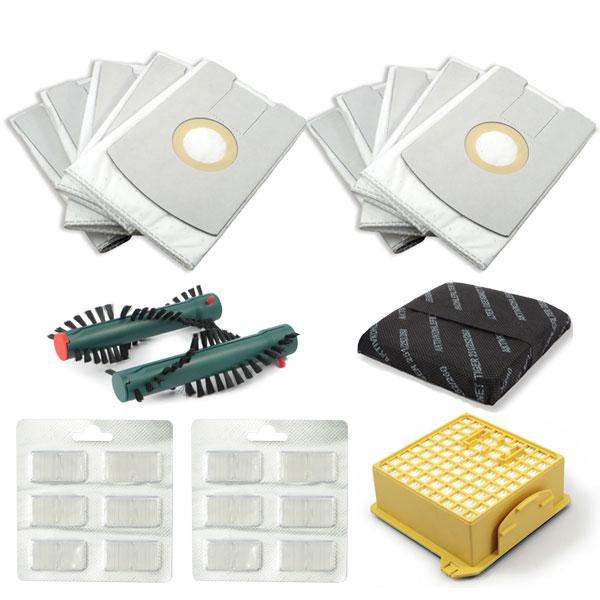 Sparset geeignet für Vorwerk Tiger VT 260 inkl. Staubsaugerbeutel, HEPA-Filter, Geruchsfilter