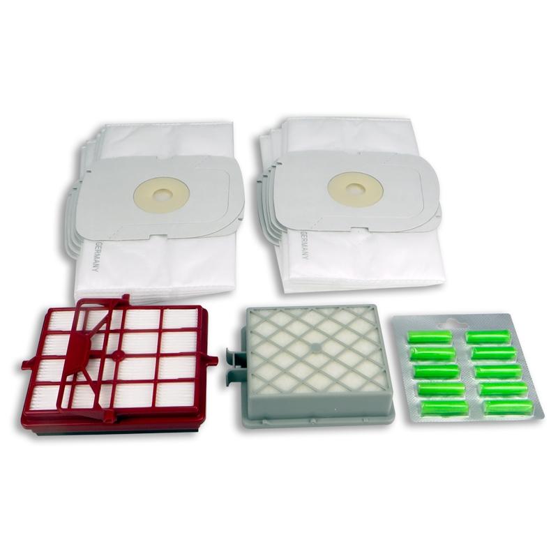Sparset für Lux Intelligence - 10x Staubsaugerbeutel, 1x HEPA-Filter, 1x Motorfilter, 10x Duftsticks