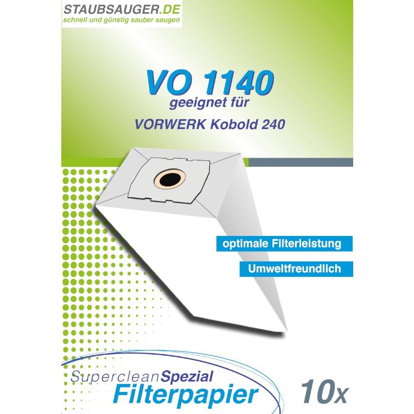 10 Staubsaugerbeutel geeignet für Vorwerk Kobold VK 240