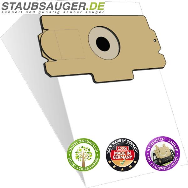 10 Staubsaugerbeutel für AEG Vampyr 400-499, 1100, AEG Gr. 11, Gr. 13, ersetzt Swirl A 18