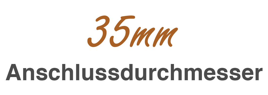 35mm Anschlussdurchmesser