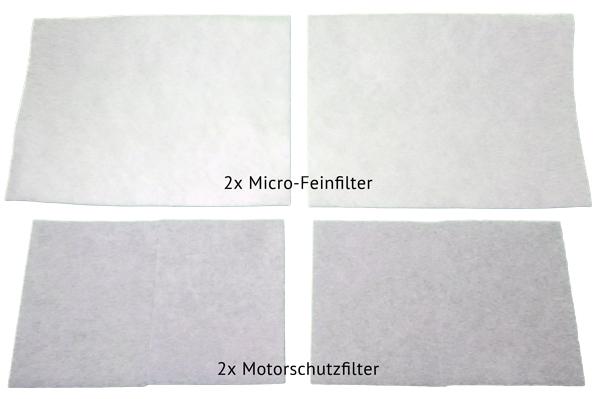 Filter Set inkl. Micro-Feinfilter und Motorfilter für alle Staubsauger z.B. AEG, Bosch, Electrolux,