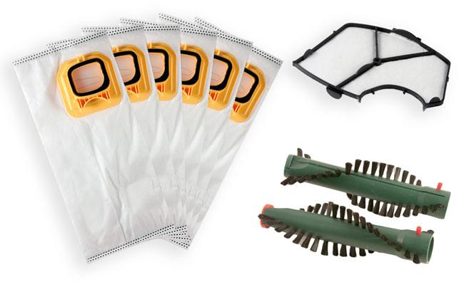 Sparset geeignet für Vorwerk Kobold VK 140, 150, EB 360, 370 - Staubsaugerbeutel, Filter, Bürsten